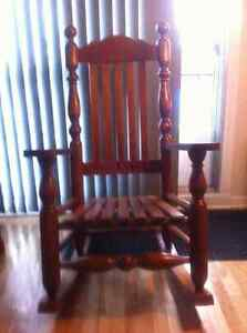 Solid Hard Maple Rocking Chair Cornwall Ontario image 1
