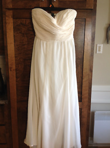NWT Ralph Lauren Ivory chiffon maxi gown dress size 4