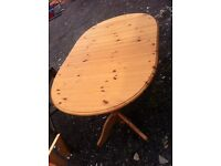 Large pine table with extender
