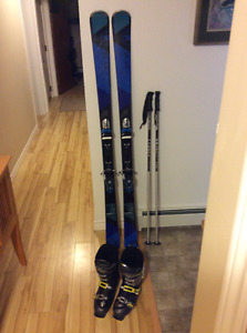 Skis boots poles
