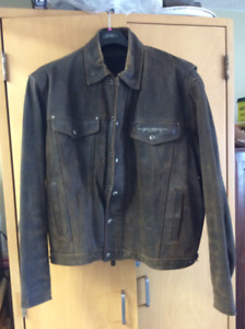 Harley Davidson XXL Distressed Look Leather Jacket