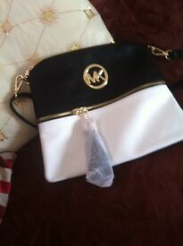 New ..MK bag ( black /white )