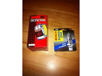 (( Ford Focus or Mondeo K&N Oil filter and Bosch Super plus spark plugs - New ))