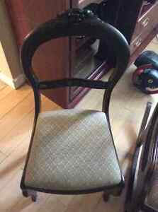 Antique Rocker & Two Side Chairs