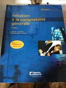 Initiation à la comptabilité générale, volumes 1et 2.