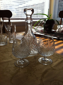 Various sets of crystal glassware - all chip / blemish free.