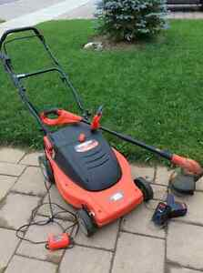 Black and Decker Cordless Mower + Cordless Weed trimmer London Ontario image 1