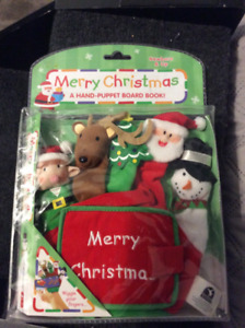 Child's Christmas hand-puppet board book