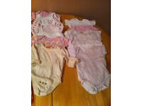 Newborn and 0-3 baby girl clothes bundle