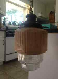 Antique Art Deco hanging light fixture