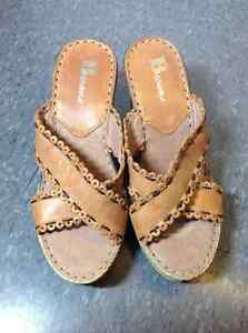 NEW Browns Brand leather wedge sandals Cambridge Kitchener Area image 2