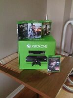 Xbox one with kinect and games $300