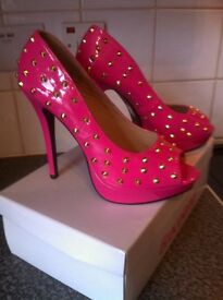 Brand new pink studded high heels £10