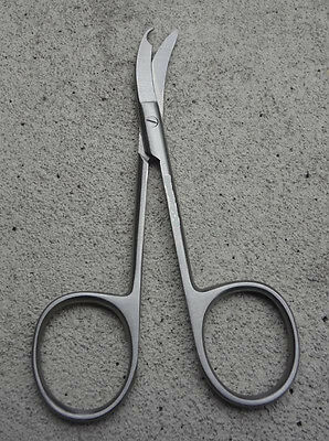 Shortbent Stitch Scissors 4.5 Curved Delicate Dermalsurgical Instruments