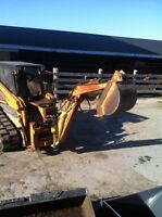 M100 case quick tach backhoe