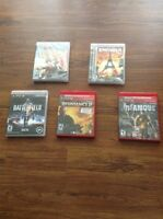 5 PS3 games MINT CONDITION