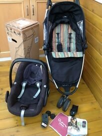 Quinny Zapp with Maxi Cosi Pebble and others