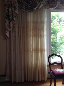 Embroidered Italian curtains
