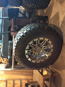 4 Procomp tires and 5 rims