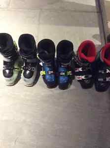 Boys Ski Boots, 3 pair to chose from