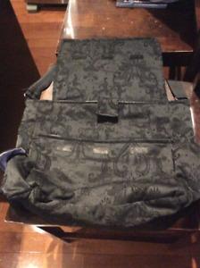 Black Diaper Bag--Hazeldean