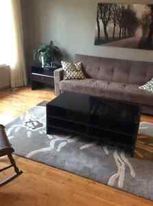 Modern coffee table and 2 end tables