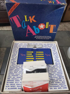 TALK ABOUT Vintage 1989 Board Game Just like the TV Game Show!