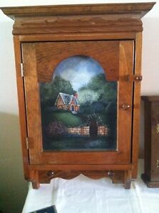Solid wood Hanging Storage Cabinet
