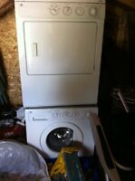 Washer and dryer, stackable GE