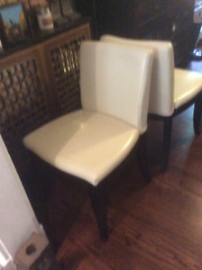 Dining room chairs white