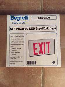 Self-Powered LED Steel Exit Sign