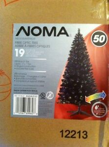 BLACK 6foot Noma fibreoptic christmas tree