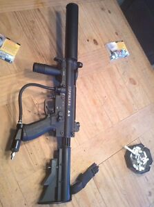 Gun marqueur paintball tippmann A5 egrip cyclone flatline