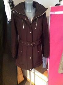Michael kors black winter jacket size 16