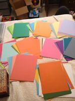 8.5x11 card stock lot for scrapbooking and card making