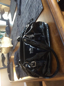 "Black Patent Leather Coach Purse ""Mint Condition"""