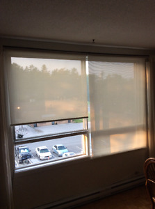 Set of roller blinds