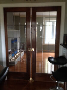 Beautiful French Provincial Doors with brass bevelling