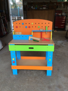 Kids Workbench / Tool Table with Drawer and Accessories