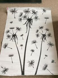 Large dandelion decal wall art