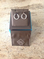Birks 18ct White Gold Hoop Earings