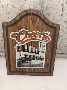 Vintage OXFORD 1989 Cheers Dart Board With Wooden Cabinet