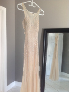 Long prom dress. Blush coloured.Size small.