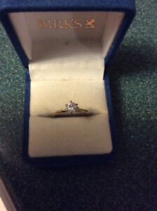 14kt. Solitaire Diamond Ring