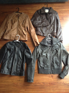 Size small coats faux leather