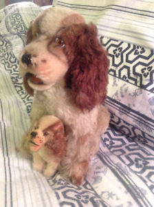 Antique Mohair Spaniel and Pup