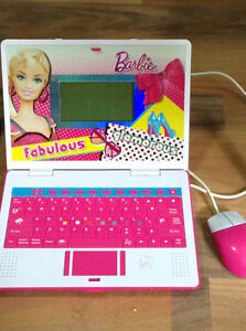 Barbie learning computer