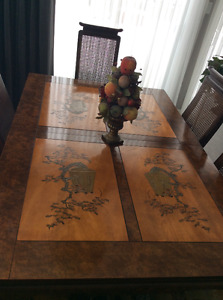 Asian Dining Table Set