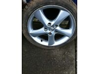 "Mazda 17"" alloys with excellent tyres"