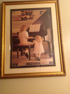 Large print of girls playing piano